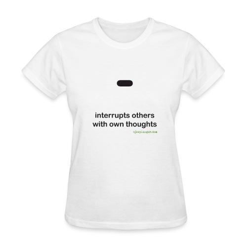 Punctuation Personality: Dash fitted tee - Women's T-Shirt