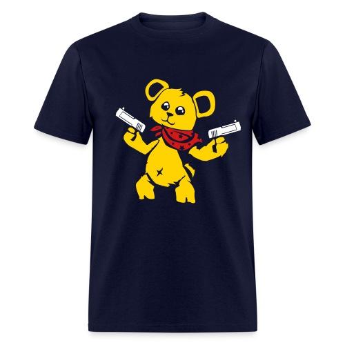 Teddy Bear with Gun   Men's T-Shirt - Men's T-Shirt