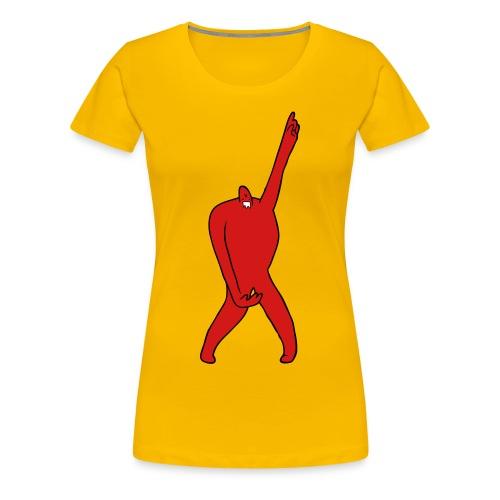 Fatawesome Monster (yellow) - Women's Premium T-Shirt