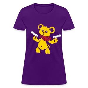 Teddy Bear with Gun   Women's T-Shirt - Women's T-Shirt