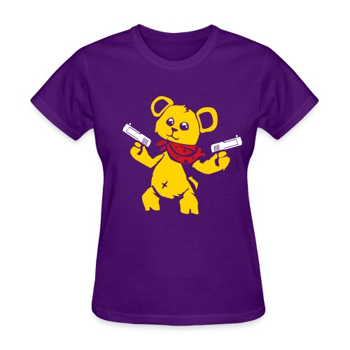 Teddy Bear with Gun | Women's T-Shirt - Women's T-Shirt
