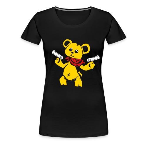Teddy Bear with Gun | Women's Premium T-Shirt - Women's Premium T-Shirt