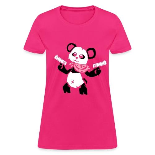 Cuddly Panda with Gun | Women's T-Shirt - Women's T-Shirt
