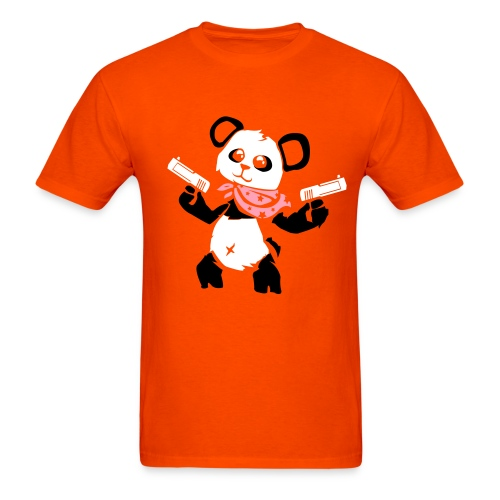 Cuddly Panda with Gun | Men's T-Shirt - Men's T-Shirt