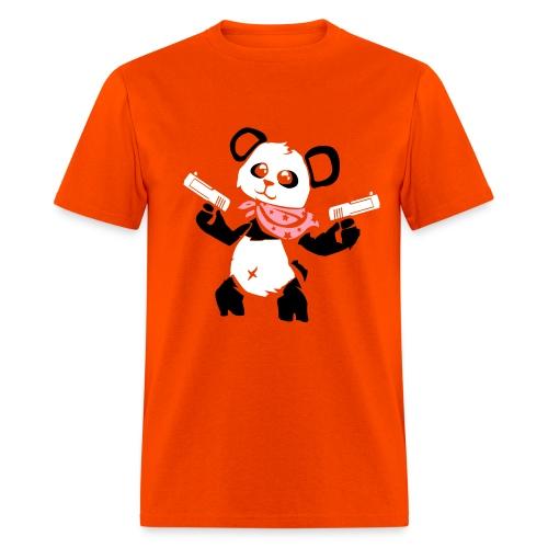 Cuddly Panda with Gun   Men's T-Shirt - Men's T-Shirt