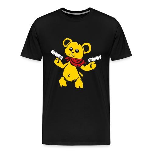 Teddy Bear with Gun | Men's Premium T-Shirt - Men's Premium T-Shirt