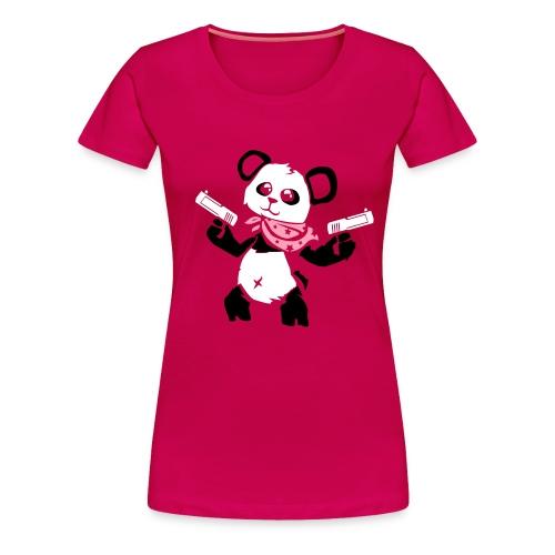 Cuddly Panda with Gun | Women's Premium T-Shirt - Women's Premium T-Shirt