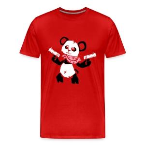 Cuddly Panda with Gun   Men's Premium T-Shirt - Men's Premium T-Shirt