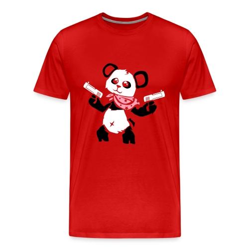 Cuddly Panda with Gun | Men's Premium T-Shirt - Men's Premium T-Shirt