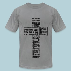 Jesus Names  (cross ) - Men's T-Shirt by American Apparel