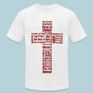 Jesus Names (cross) - Men's T-Shirt by American Apparel