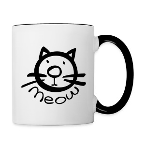 meow klitty cat Contrast Coffee Mug - Contrast Coffee Mug