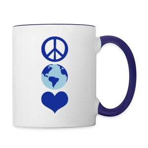 peace earth love Contrast Coffee Mug - Contrast Coffee Mug