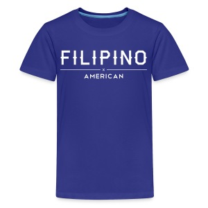 Filipino American Kids Shirt by AiReal Apparel - Kids' Premium T-Shirt