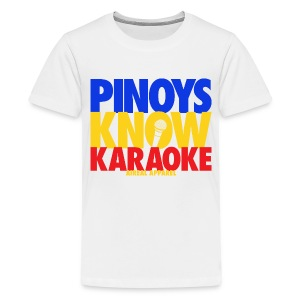 Pinoys Know Karaoke Kids Tee Shirt by AiReal Apparel - Kids' Premium T-Shirt