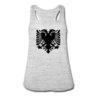 Tanks ~ Women's Flowy Tank Top by Bella ~ Albanian Eagle
