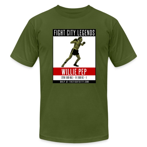 Fight City Legends: Willie Pep Edition - Men's Fine Jersey T-Shirt