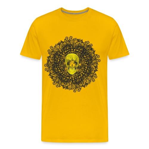 Beautiful Yellow Skull for Men - Men's Premium T-Shirt