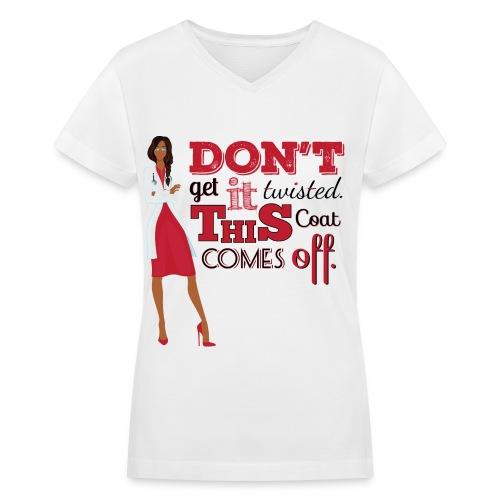 Twisted Sidebraid - Women's V-Neck T-Shirt
