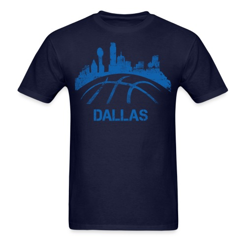 Dallas Basketball Skyline - Men's T-Shirt