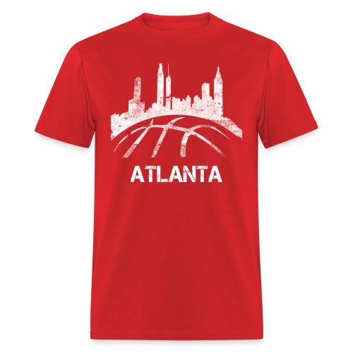 Atlanta Basketball Skyline - Men's T-Shirt