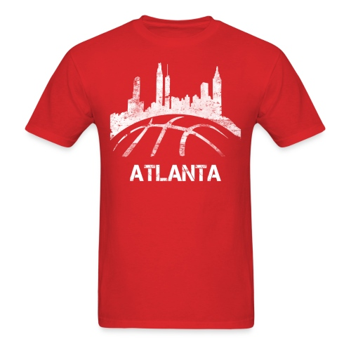 Atlanta Basketball Skyline - Men's T-Shirt