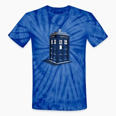 Travel Via Tardis Tie Dye T-Shirt
