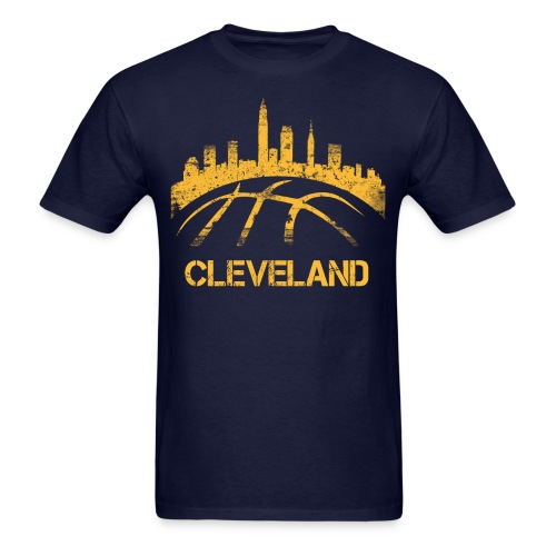 Cleveland Basketball Skyline - Men's T-Shirt