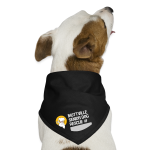 Muttville's #3000 Milestone Commemorative bandana (wht on blk) - Dog Bandana