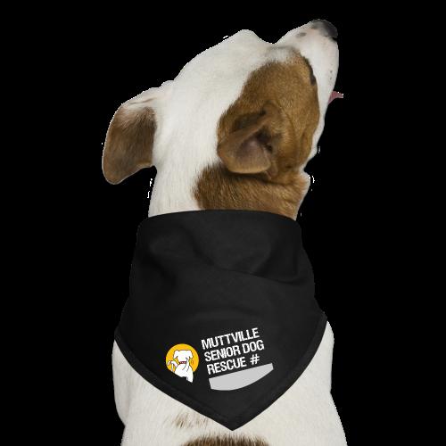 Muttville's #3000 Milestone Commemorative bandana (wht on blk) - Dog Bandana