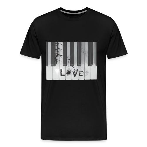 Piano Love Mans T-shirt - Men's Premium T-Shirt