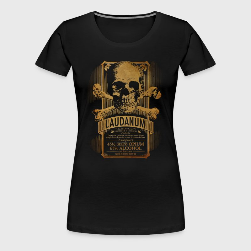 Goth Steampunk Medicine Skull - Women's Premium T-Shirt