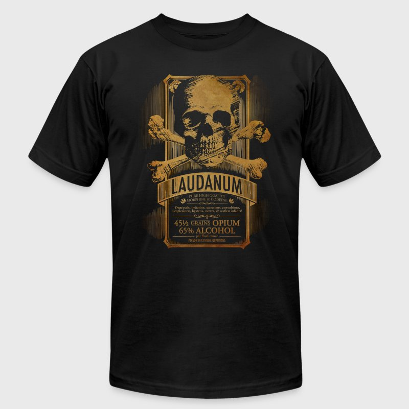 Goth Steampunk Medicine Skull - Men's T-Shirt by American Apparel