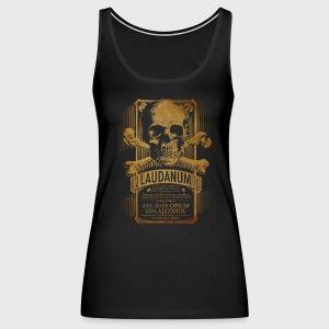 Goth Steampunk Medicine Skull - Women's Premium Tank Top