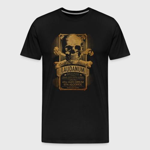 Goth Steampunk Medicine Skull - Men's Premium T-Shirt