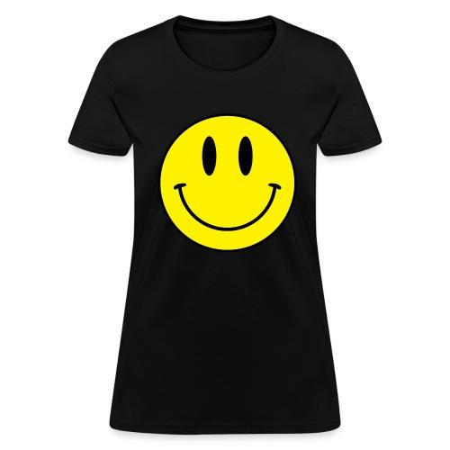 Smiley women's tee (dark) - Women's T-Shirt