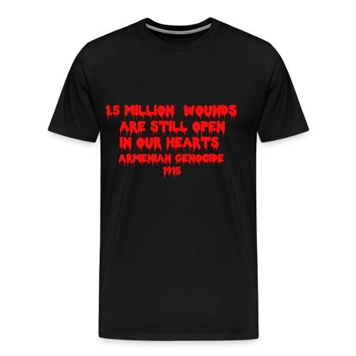 Armenian Genocide T-shirt Black - Men's Premium T-Shirt