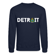 Long Sleeve Shirts ~ Men's Crewneck Sweatshirt ~ Detroit San Marino
