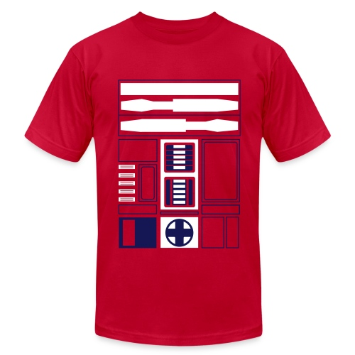 Atlanta Basketball Droid (M) - Men's Fine Jersey T-Shirt