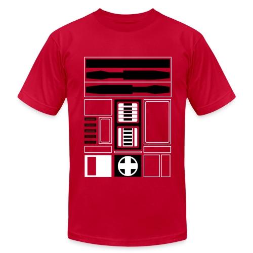 Chicago Basketball Droid (M) - Men's Fine Jersey T-Shirt