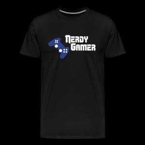 Nerdy Gamer Playstation T shirt - Men's Premium T-Shirt