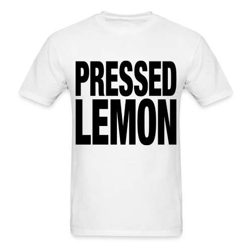 Pressed Lemon - Mens T - Men's T-Shirt