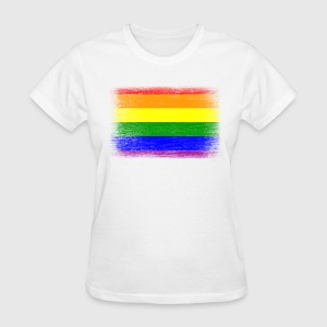 Grunge Rainbow Pride Flag - Women's T-Shirt
