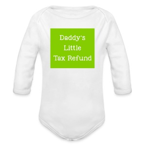 Tax Refund Baby one-piece - Long Sleeve Baby Bodysuit