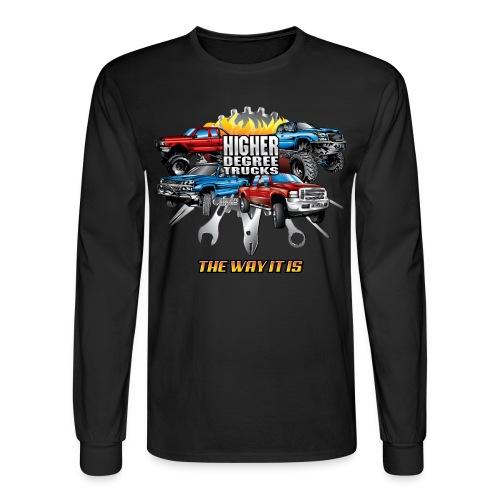 Higher Degree Trucks FRONT - Men's Long Sleeve T-Shirt