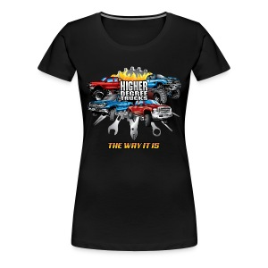 Higher Degree Trucks FRONT - Women's Premium T-Shirt