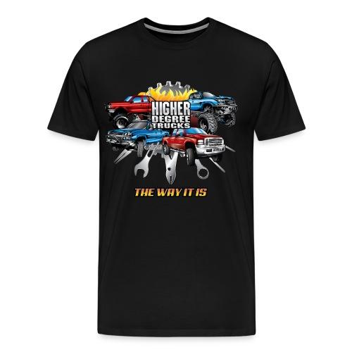 Higher Degree Trucks FRONT - Men's Premium T-Shirt