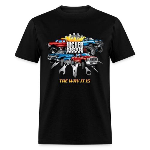 Higher Degree Trucks FRONT - Men's T-Shirt