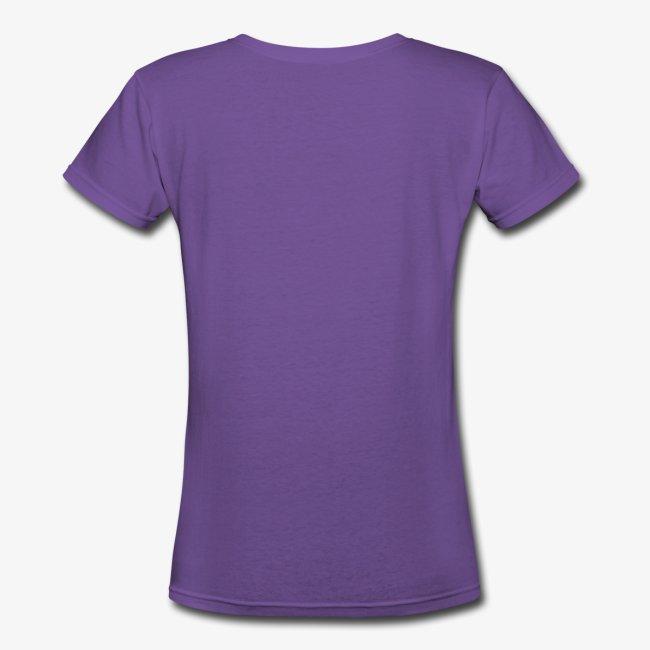 I Love Purple Pinstripes - Ladies V-Neck