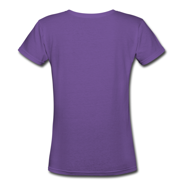 I Love Purple Pinstripes - Ladies V-Neck